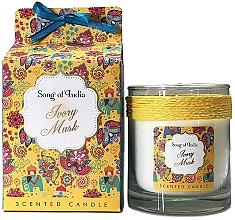"""Parfüm, Parfüméria, kozmetikum Illatosított gyertya """"Fehér pézsma"""" - Song of India Ivory Musk Scented Candle"""