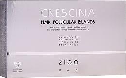 Parfüm, Parfüméria, kozmetikum Hajhuáást kezelő komplexum férfiaknak 2100 - Labo Crescina Hair Follicular Island Re-Growth Anti-Hair Loss Complete Treatment 2100 Man