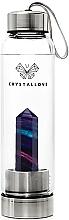 Parfüm, Parfüméria, kozmetikum Kulacs szivárávnyos fluorit kristállyal, 500 ml - Crystallove