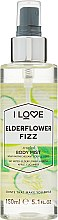 """Parfüm, Parfüméria, kozmetikum Frissítő testpermet """"Bodza koktél"""" - I Love Elderflower Fizz Body Mist"""