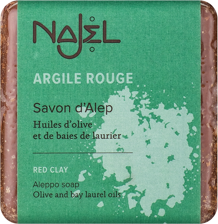 """Aleppo szappan""""Vörös agyag"""" - Najel Aleppo Soap with Red Clay"""