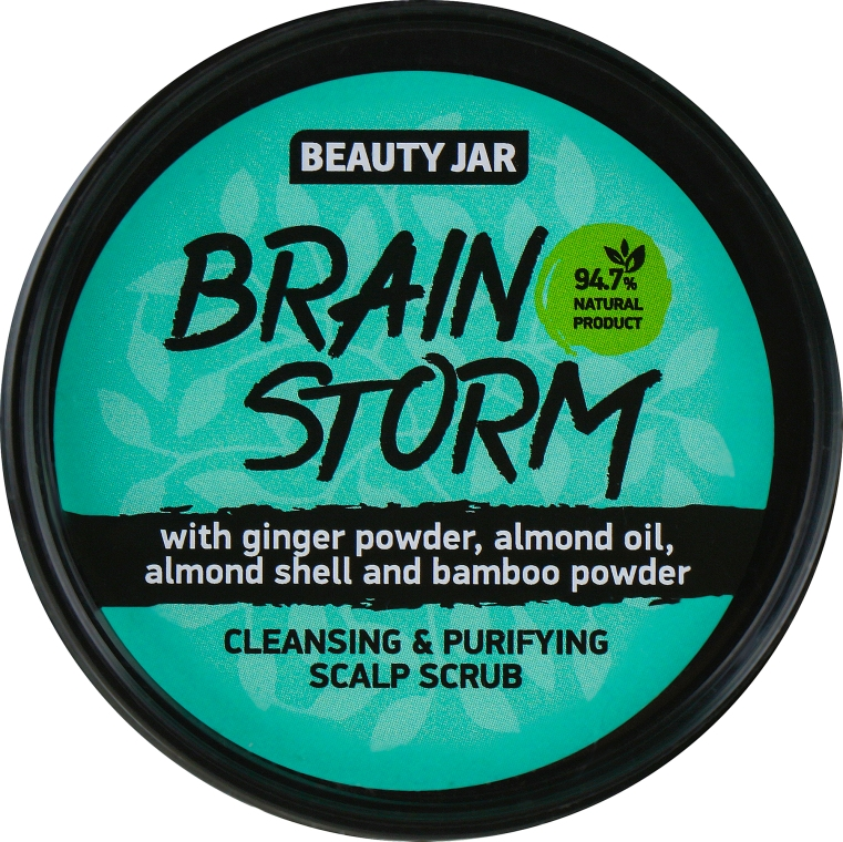 "Fejbőrradír ""Brain Storm"" - Beauty Jar Cleansing & Purifying Scalp Scrub"