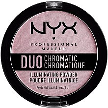 Parfüm, Parfüméria, kozmetikum Highlighter arcra - NYX Professional Makeup Duo Chromatic Illuminationg Powder