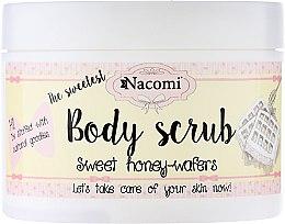"""Parfüm, Parfüméria, kozmetikum Testradír """"Édes mézes ostya"""" - Nacomi Body Scrub Sweet Honey Wafers"""