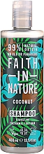 """Parfüm, Parfüméria, kozmetikum Sampon normál és száraz hajra """"Kókusz"""" - Faith In Nature Coconut Shampoo"""