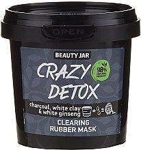 Parfüm, Parfüméria, kozmetikum Arctisztító lehúzható maszk faszén, fehér agyag és ginzeng kivonattal - Beauty Jar Crazy Detox Clearing Rubber Mask
