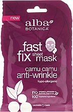 Parfüm, Parfüméria, kozmetikum Anti-age textil arcmaszk - Alba Botanica Fast Fix Sheet Mask Camu Camu Anti-Wrinkle