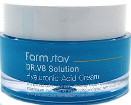 Parfüm, Parfüméria, kozmetikum Ránctalanító világosító hatású arckrém hialuronsavval - FarmStay DR.V8 Solution Hyaluronic Acid Cream