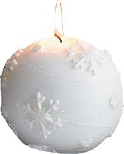 Parfüm, Parfüméria, kozmetikum Dekoratív gyertya, fehér gömb, 12 cm - Artman Snowflake Application