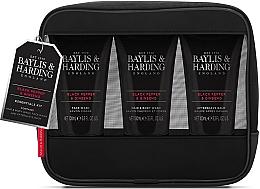Parfüm, Parfüméria, kozmetikum Szett - Baylis & Harding Signature Men's Black Pepper & Ginseng Toiletry Bag (hair/body/wash/100ml+a/sh/balm/100ml+face/wash/100ml+acc)