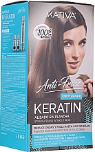 Parfüm, Parfüméria, kozmetikum Szett - Kativa Anti-Frizz Straightening Without Iron Xpert Repair (h/mask/150ml + shmp/30ml + h/cond/30ml)