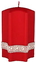 """Parfüm, Parfüméria, kozmetikum Dekoratív gyertya """"Csillag"""", piros, 9x14 cm - Artman Crystal Opal Pearl"""