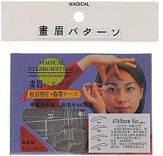 Parfüm, Parfüméria, kozmetikum Szemöldökformázó sablon, méret B1, B2, B3, B4 - Magical Eyebrow Style