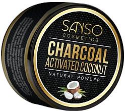 Parfüm, Parfüméria, kozmetikum Természetes fehérítő fogpor - Sanso Cosmetics Charcoal Activated Coconut Natural Powder