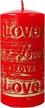 Parfüm, Parfüméria, kozmetikum Díszgyertya, piros, 7x14 cm - Artman Lovely