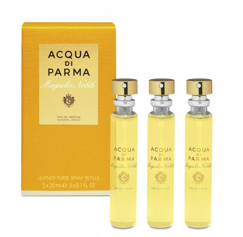 Acqua Di Parma Magnolia Nobile Leather Purse Spray - Parfüm szett ( edp/20ml + edp/20ml+edp/20ml) — fotó N1