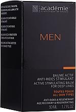 Parfüm, Parfüméria, kozmetikum Aktív stimuláló borotválkozás utáni krém-balzsam - Academie Men Active Stimulating Balm for Deep Lines