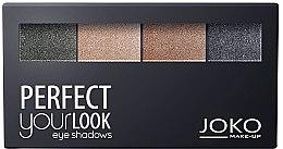 Parfüm, Parfüméria, kozmetikum Szemhéjfesték 4 színű - Joko Perfect Your Look Quattro Eye Shadows New