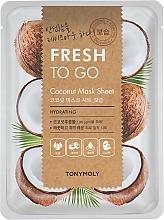 Parfüm, Parfüméria, kozmetikum Anyagmaszk kókuszolajjal - Tony Moly Fresh To Go Coconut Mask Sheet Hydrating