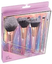 Parfüm, Parfüméria, kozmetikum Sminkecset készlet, 5 db, 37351 - Top Choice Rose Gold