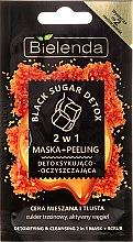 """Parfüm, Parfüméria, kozmetikum Maszk-peeling """"Detox"""" - Bielenda Black Sugar Detox (mini)"""