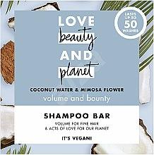 """Parfüm, Parfüméria, kozmetikum Szilárd hajdúsító sampon """"Kókusz és Mimóza"""" - Love Beauty And Planet Coconut & Mimosa Shampoo"""
