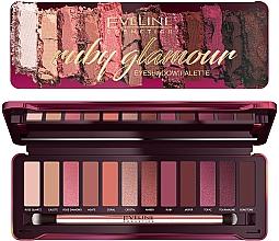 Parfüm, Parfüméria, kozmetikum Szemhéjfesték paletta - Eveline Cosmetics Ruby Glamour Eyeshadow Palette