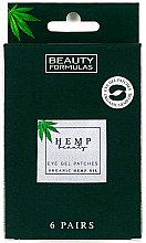 Parfüm, Parfüméria, kozmetikum Szem alatti tapasz - Beauty Formulas Hemp Beauty Eye Gel Patches