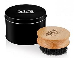 Parfüm, Parfüméria, kozmetikum Fából készült szakállkefe, kör alakú - Angry Beards Safe Brush
