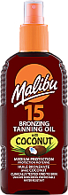 Parfüm, Parfüméria, kozmetikum Testápoló olaj bronzosító hatással - Malibu Bronzing Tanning Oil With Coconut SPF 15