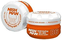 Parfüm, Parfüméria, kozmetikum Stilizáló hajwax-gél - Nishman Hair Styling Gel Wax B6 Mystic Gummy