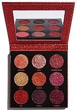 Parfüm, Parfüméria, kozmetikum Csillogó szemhéjfesték paletta - Makeup Revolution Pressed Glitter Palette Hot Pursuit