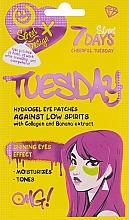 """Parfüm, Parfüméria, kozmetikum Hidrogél szemtapasz """"Vidám kedd"""" kollagénnel és banán kivonattal - 7 Days Cheerful Tuesday Hydrogel Eye Patches"""