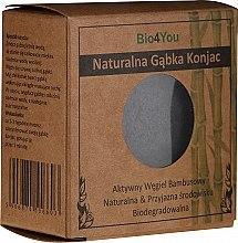 Parfüm, Parfüméria, kozmetikum Konjac arctisztító szivacs bambusz szénnel - Bio4You