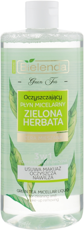 Micellás víz 3 az 1-ben - Bielenda Green Tea Cleansing Micellar Liquid 3in1