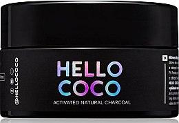 Parfüm, Parfüméria, kozmetikum SZénes fogfehérítő por - Hello Coco Sweet Mint Activated Natural Charcoal Teeth Whitener