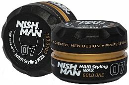 Parfüm, Parfüméria, kozmetikum Stilizáló hajwax - Nishman Hair Styling Wax 07 Gold One