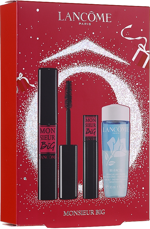 Szett - Lancome Monsieur Big (mascara/10g + makeup/remover/30ml + mascara/4g)