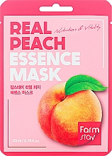 Parfüm, Parfüméria, kozmetikum Szövetmaszk barack kivonattal - FarmStay Real Peach Essence Mask