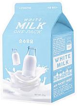 """Parfüm, Parfüméria, kozmetikum Hidratáló szövetmaszk """"Tejszín"""" - A'Pieu Milk One-Pack Hydrating White Milk"""