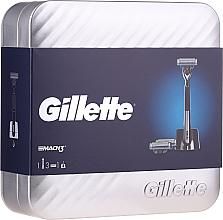 Parfüm, Parfüméria, kozmetikum Szett - Gillette Mach3 (razor/1pc + repl/cass/2pc + stand)