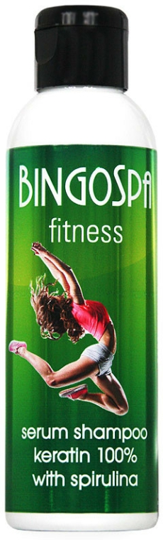 Sampon szérum 100% keratin - BingoSpa Serum Shampoo Keratin 100% With Spirulina Fitness