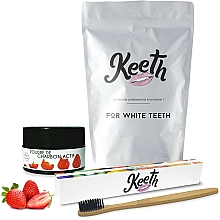 Parfüm, Parfüméria, kozmetikum Szett - Keeth Strawberry Charcoal Kit (toothbrush/1pc + toothpowder/15g + pack)