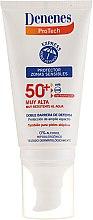 Parfüm, Parfüméria, kozmetikum Napvédő krém érzékeny bőrre - Denenes Sun Protective Cream SPF50+