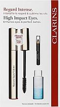 Parfüm, Parfüméria, kozmetikum Készlet - Clarins (mascara/8ml + makeup/remover/10ml + eye/pencil/0.39g)