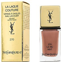 Parfüm, Parfüméria, kozmetikum Matt körömlakk - Yves Saint Laurent La Laque Couture The Mats