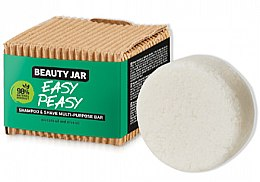 Parfüm, Parfüméria, kozmetikum Haj és szakál szappan - Beauty Jar Easy Peasy Shampoo & Shave Multi-Purpose Bar