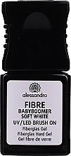 Parfüm, Parfüméria, kozmetikum Üvegszálas gél körömre - Alessandro International Fiber UV/LED Brush On Fiberglass Hard Gel (Soft White )