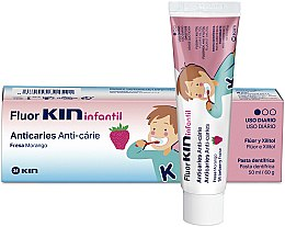 Parfüm, Parfüméria, kozmetikum Gyermek fogkefe - Kin Fluorkin Infantil Strawberry Anticaries Toothpaste For Children