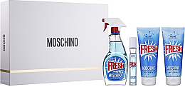 Parfüm, Parfüméria, kozmetikum Moschino Fresh Couture - Szett (edt/100ml + edt/10ml + b/lot/100ml + sh/gel/100ml)